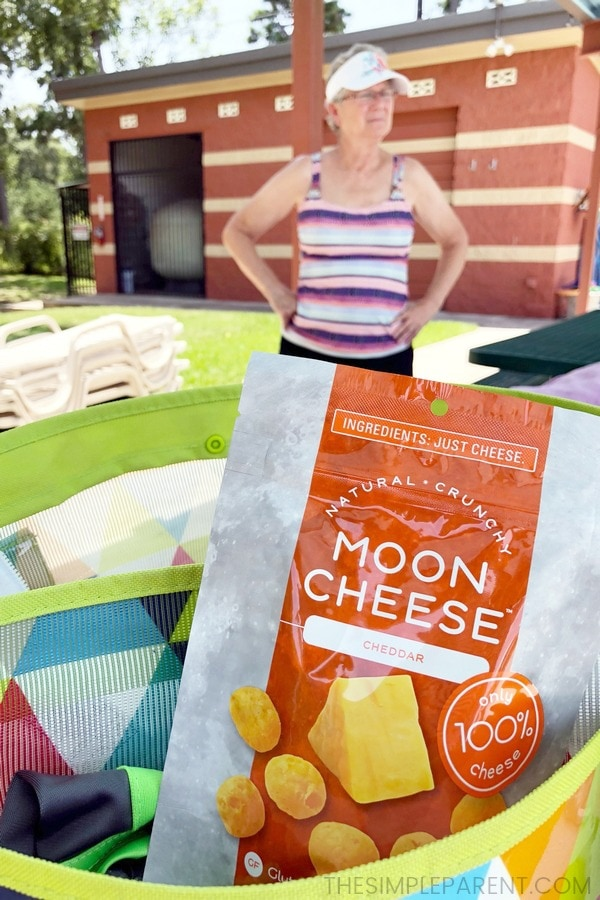 Moon Cheese are the best keto snacks for the pool