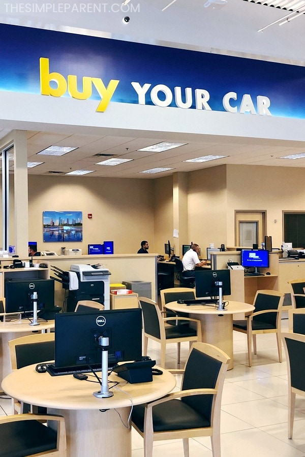 Buy Your Car area of Carmax
