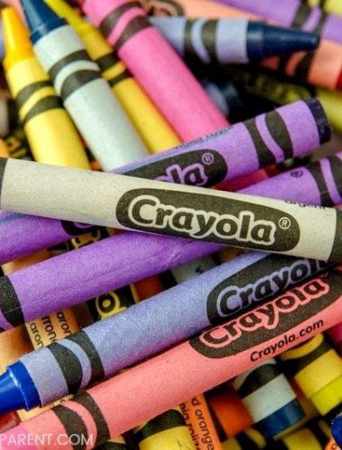 Basket of Crayola crayons