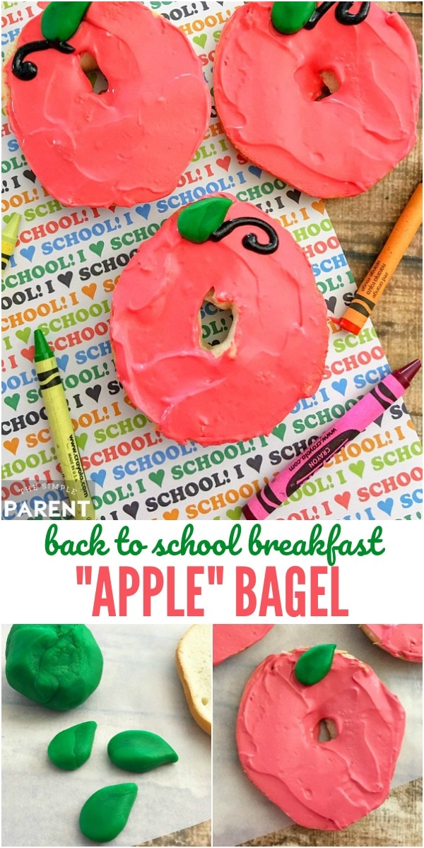 Start a first day of school breakfast tradition by making this cute (and easy) apple craft that's also edible! It's a great Back to School idea for kids (Kindergarten through the teens) and will lead to many memories!