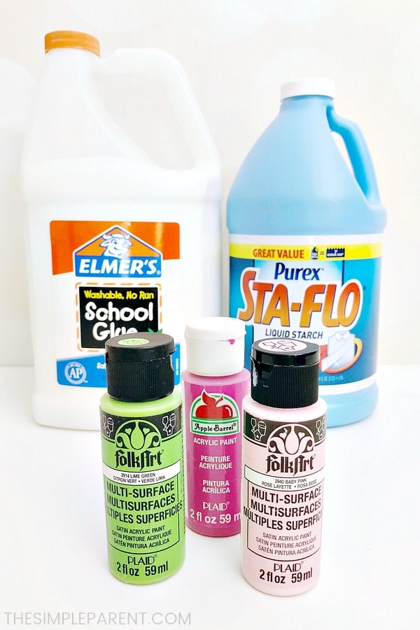 No Borax slime ingredients