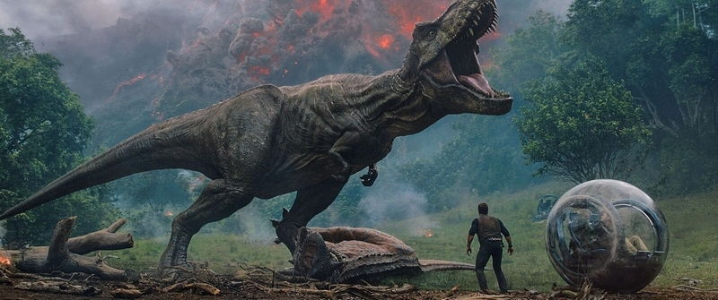Scene from Jurassic World: Fallen Kingdom