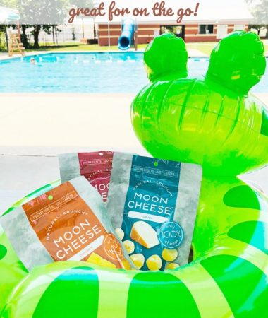Moon Cheese Keto Friendly Snacks at the pool