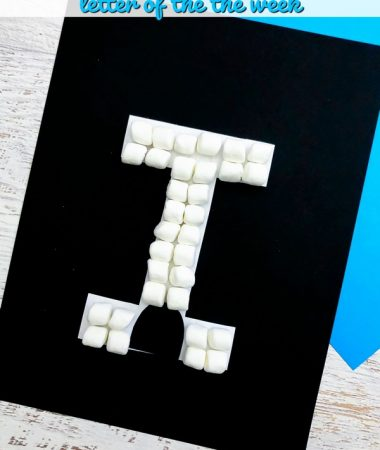 Letter I Craft - I is for Igloo Letter of the Week craft for preschool