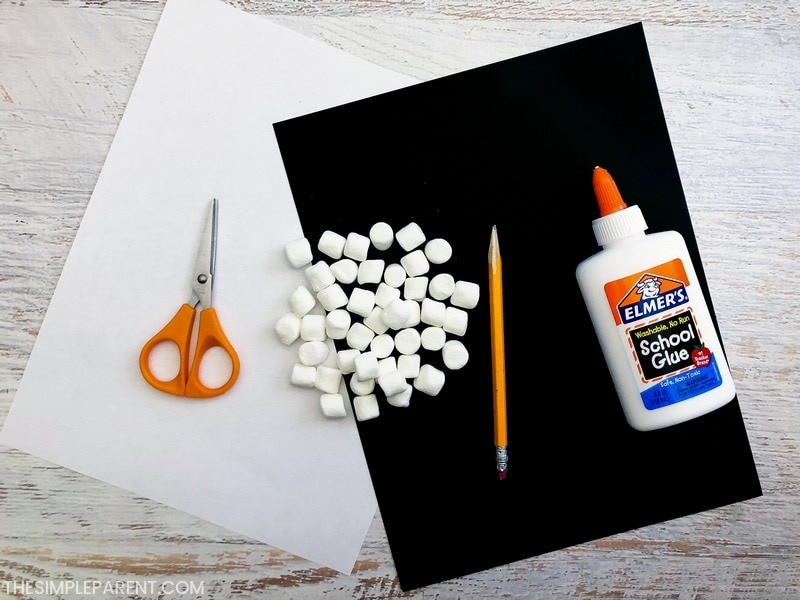 Materials needed to make the Letter I craft