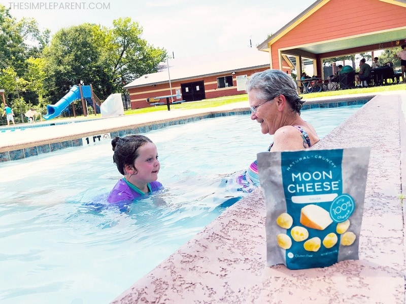 Moon Cheese at the pool