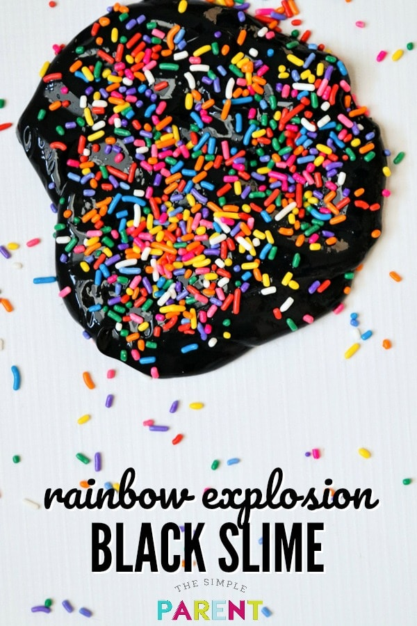 Learn how to make Rainbow Explosion Black Slime