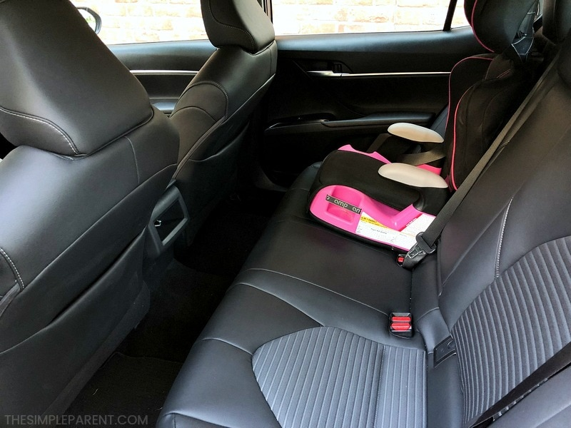 The backseat interior of the Toyota Camry