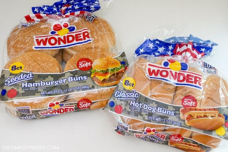 Wonder hot dog buns and hamburger buns