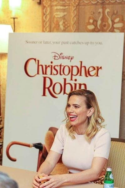 Photo from Hayley Atwell interview for Christopher Robin