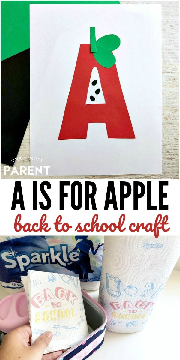 A for Apple Craft - This letter of the week craft is perfect for preschool and kindergarten. Turn letters into art and practice fine motor skills!