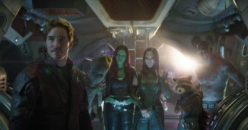 Guardians of the Galaxy in Avengers: Infinity War Blu-ray