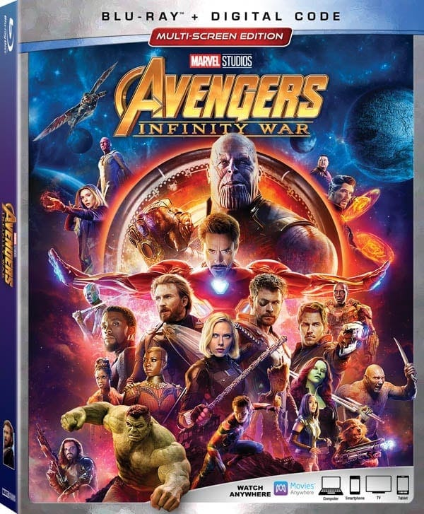 Avengers: Infinity War on Blu-Ray & DVD Box Cover