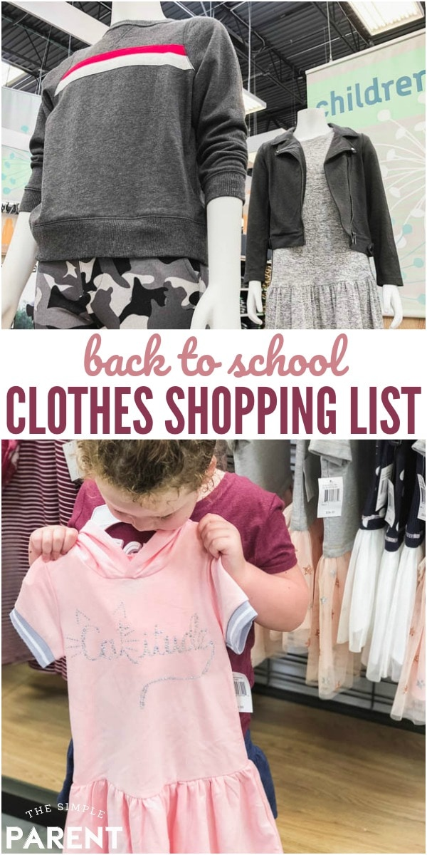 Back to School Clothes Shopping List includes essentials for both boys and girls. This checklist has everything you need for kids to be ready for the new school year! Check out where we shopped for it all!