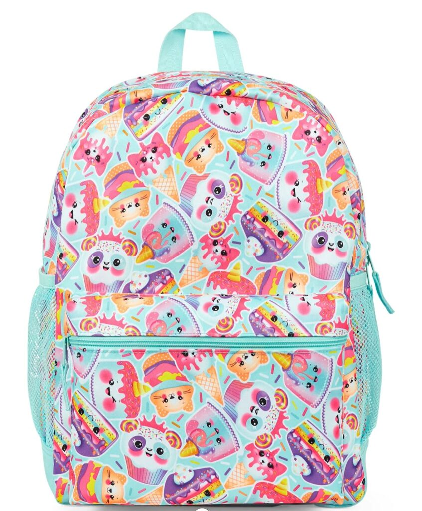 Squishes themed backpack