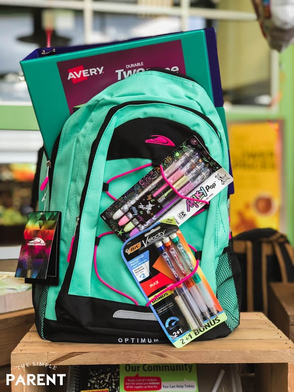 Back to school shopping backpack at Kroger Marketplace