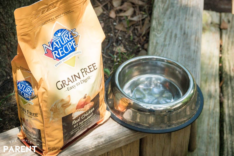 Bag of Nature's Recipe Grain Free Dry Dog Food