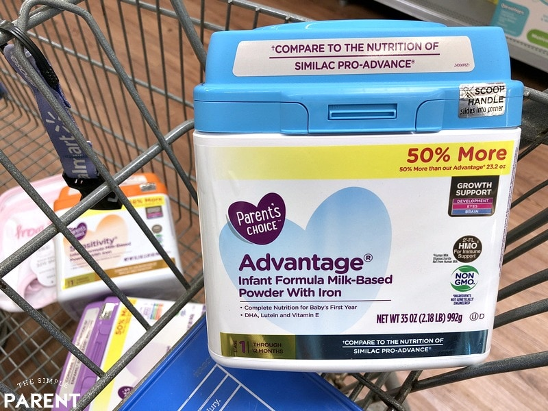 Best infant formula at Walmart