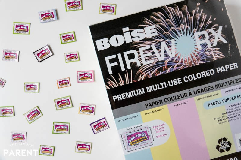 Boise FIREWORX paper and Box Tops for Education