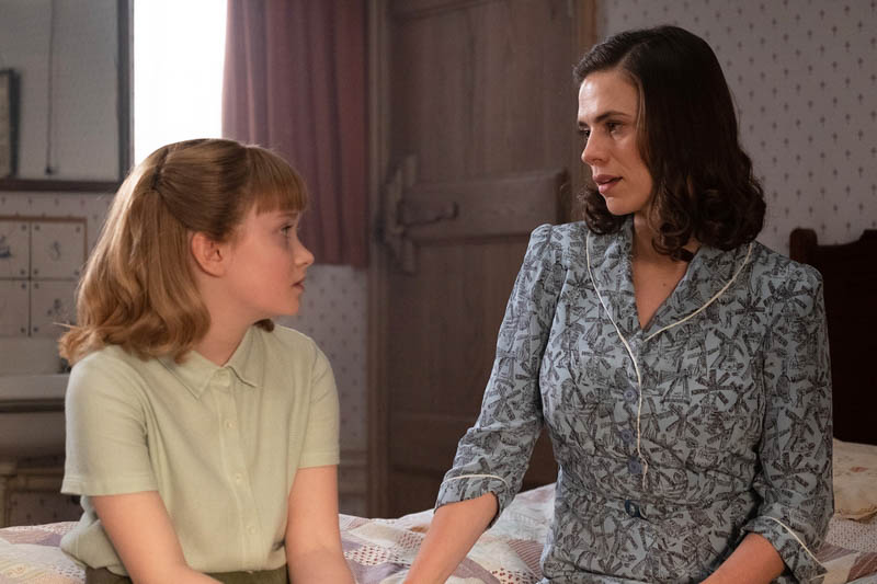 Bronte Carmichael with Hayley Atwell in Christopher Robin