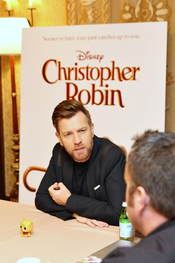 Interviewing Ewan McGregor from Christopher Robin movie