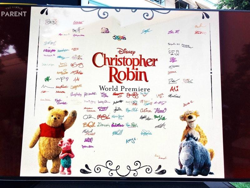 Christopher Robin movie premiere digital guestbook
