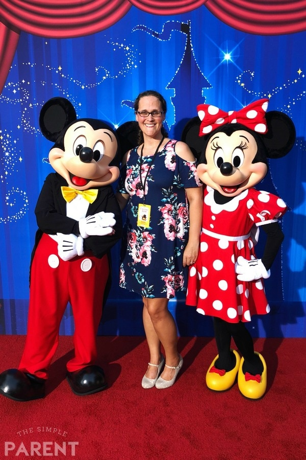 Me with Mickey and Minnie Mouse at the Christopher Robin movie premiere