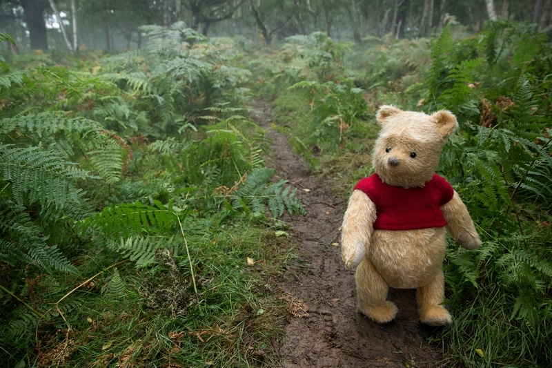 Winnie the Pooh in the Christopher Robin movie