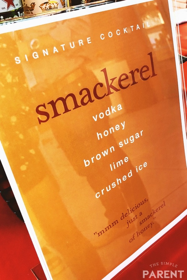 """Specialty drink """"Smackerel"""" at the Christopher Robin world premiere"""