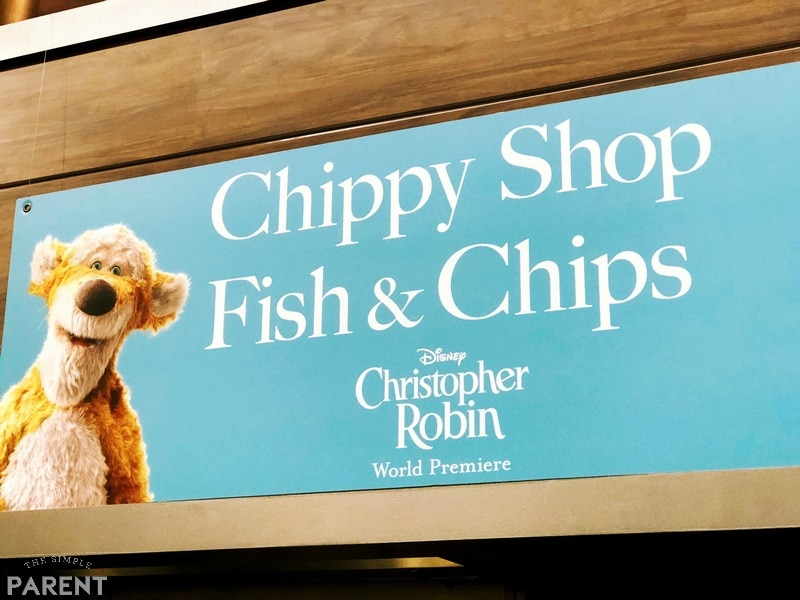 Winnie the Pooh themed signs at the Christopher Robin movie premiere