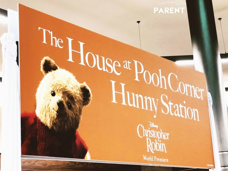 Winnie the Pooh themed dessert station sign