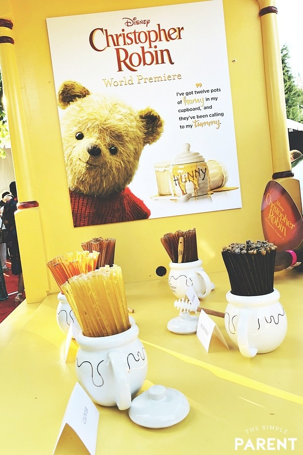 Honey stand at the Christopher Robin premiere