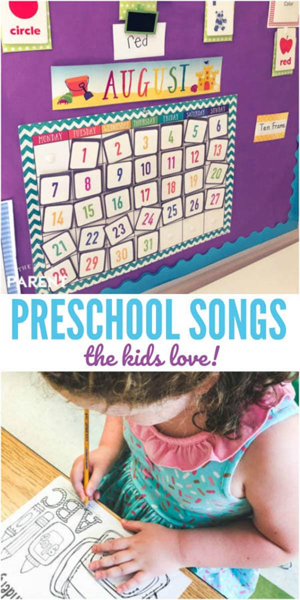 Have a fun time learning with these favorite circle time songs. Get a free preschool songs printable too!