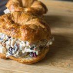 Cranberry walnut chicken salad sandwich