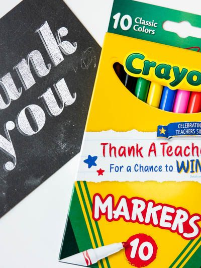 Teacher Thank You Note and Crayola Thank a Teacher Marker Box