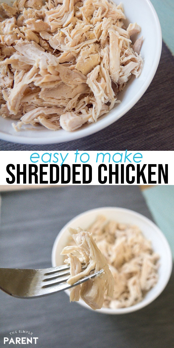 Crockpot shredded chicken is perfect all of your favorite Crockpot chicken recipes! It's healthy and easy to make! Slow cooker shredded chicken is great for tacos, BBQ, chicken salad, and more!