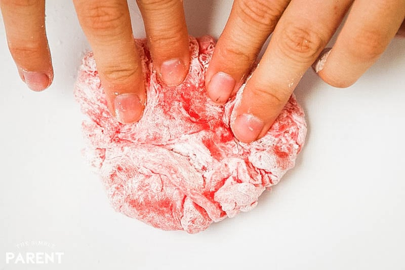 Kneading DIY edible slime made from candy
