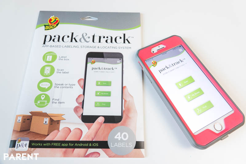 Duck Tape Pack and Track app and labels