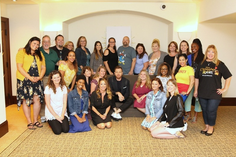 Group of bloggers with Ewan McGregor