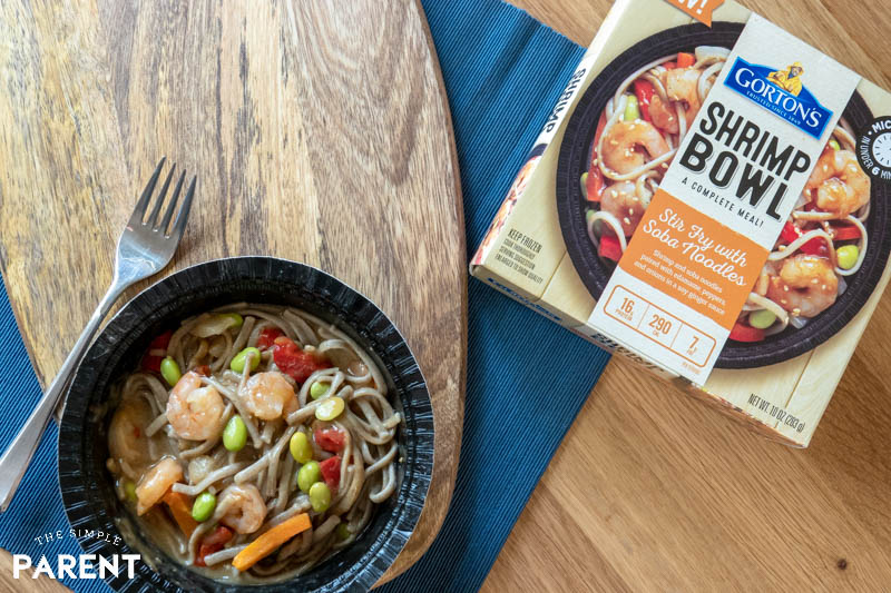 Stir Fry with Soba Noodles Shrimp Bowl from Gorton's Shrimp Bowls