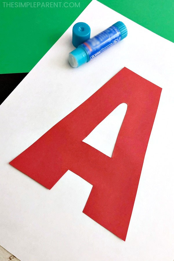 Making letter a for apple craft