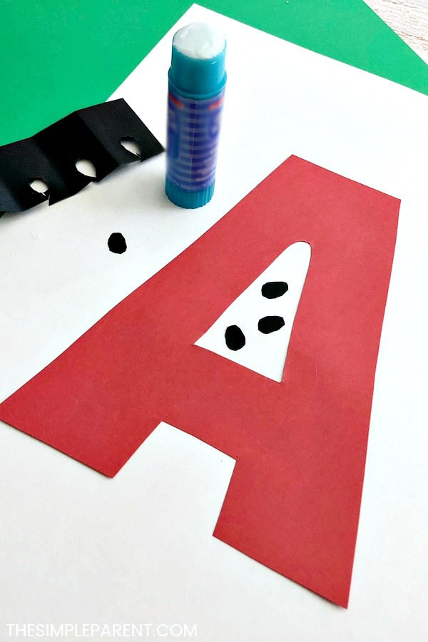 Making letter a crafts