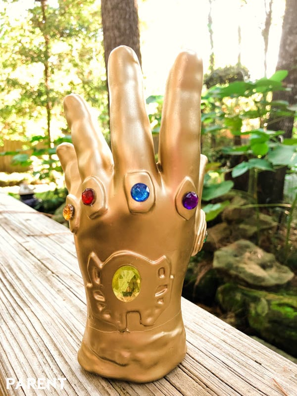 Inifinity Gauntlet wax hand from Madame Tussauds Hollywood