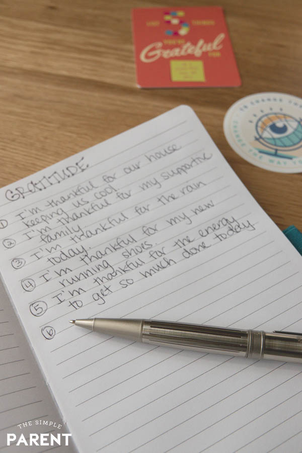 Gratitude journal is a great way to develop an optimistic attitude