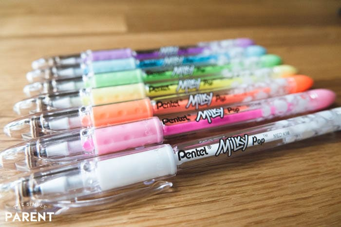Pentel POP Milky Pens - they're great for using on a blank comic strip