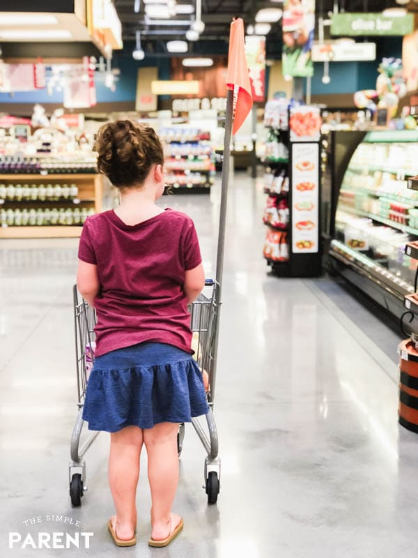 Girl shopping at Kroger Marketplace store