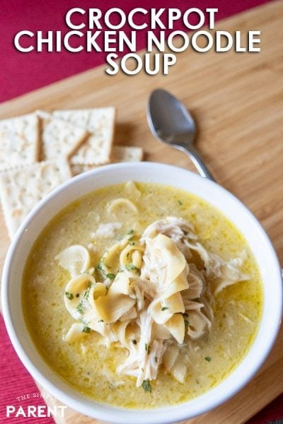 Slow Cooker Chicken Noodle Soup Means Comfort