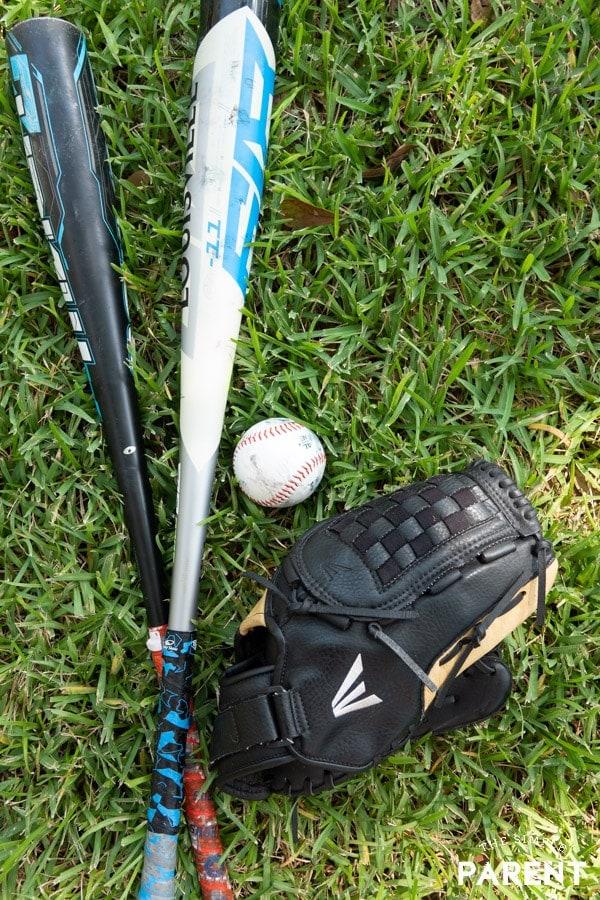 Little League baseball equipment