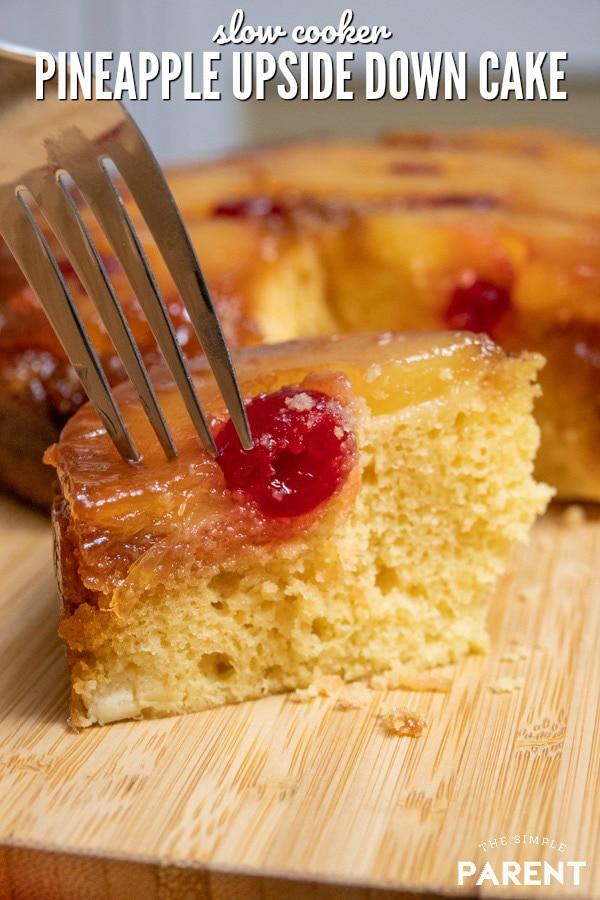 Crockpot Pineapple Upside Down Cake
