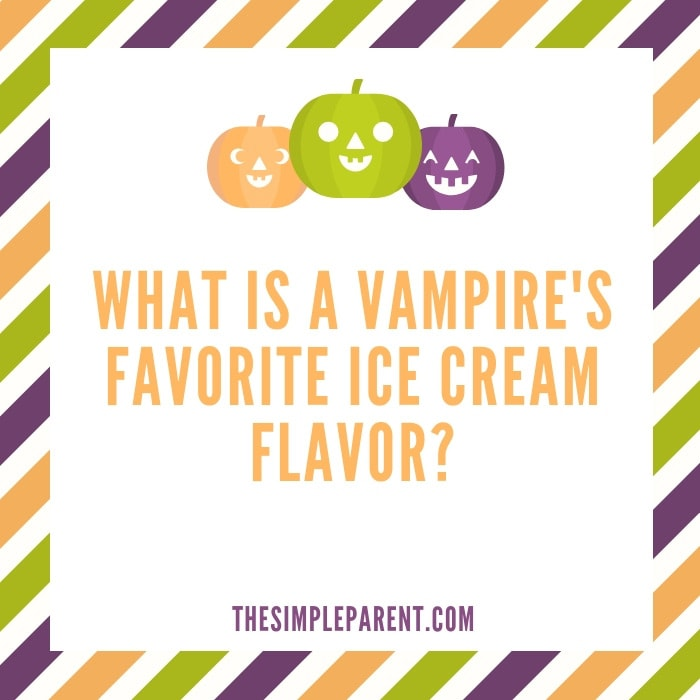 Vampire's favorite ice cream - Funny Halloween Jokes for Adults